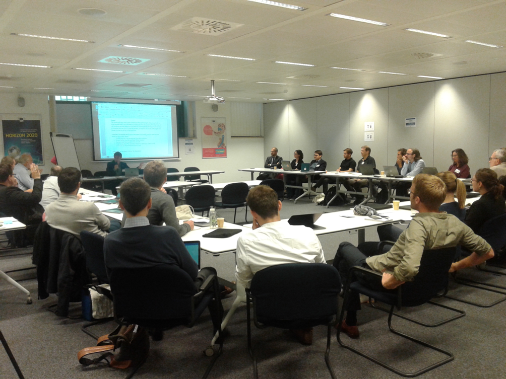 Figure 6. Jordi Solé chairs the focus group 2A on οpen energy system models